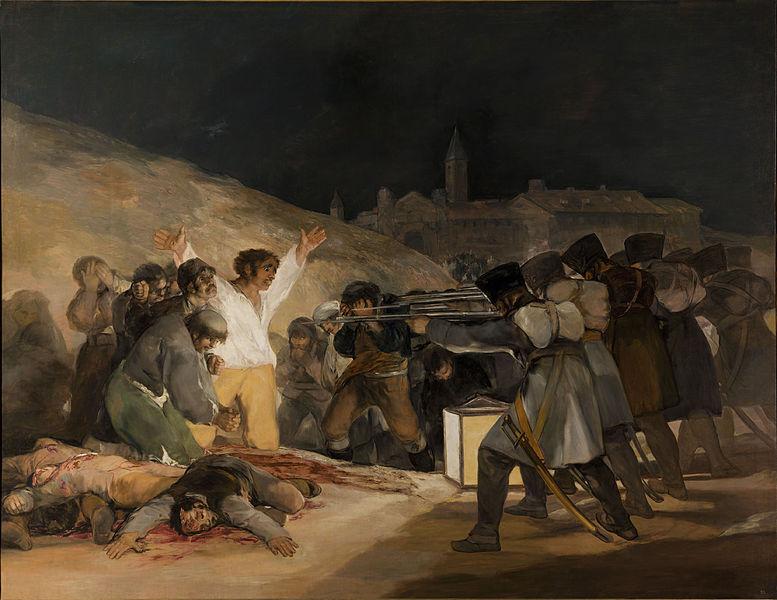 El 3 de mayo en Madrid, el cuadro mas emblem�tico de Goya