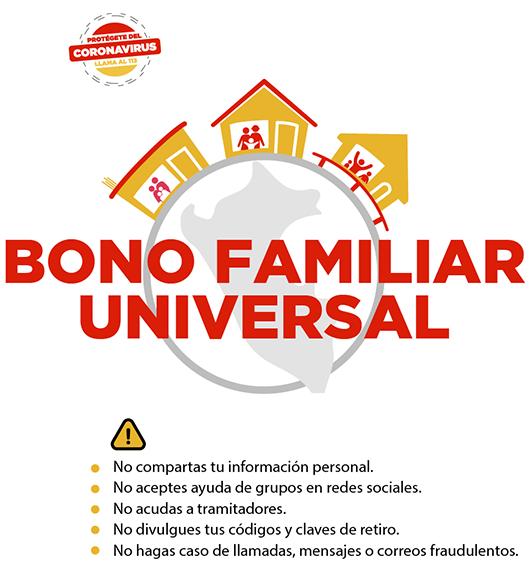 Bono Familiar Universal de 760 de bajos recursos a tener cuidado con los estafadores