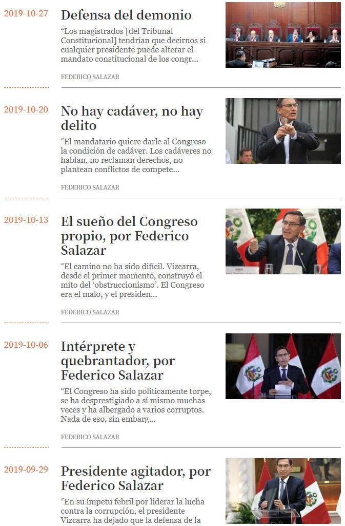 Federico Salazar en defensa del orden podrido