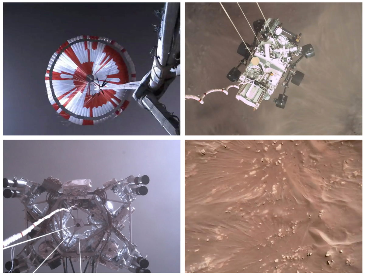 Primer video de un aterrizaje en Marte el Rover Perseverance de la NASA